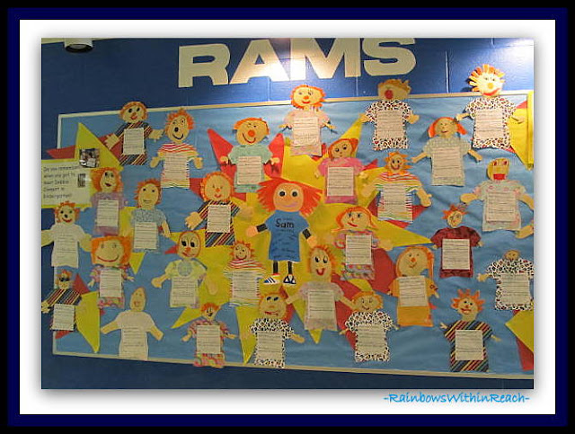 photo of: Kindergarten Bulletin Board for Self Esteem and Rhyme at RainbowsWithinReach