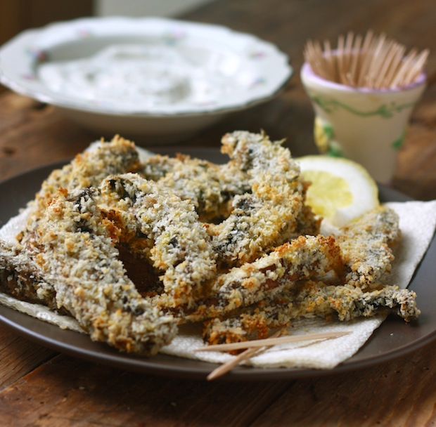 Baked Portobello Mushroom Fries with a Lemon-Dill Dip by Season with Spice