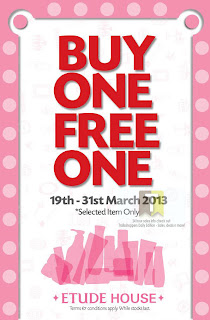 Buy 1 FREE 1 at Etude House 2013