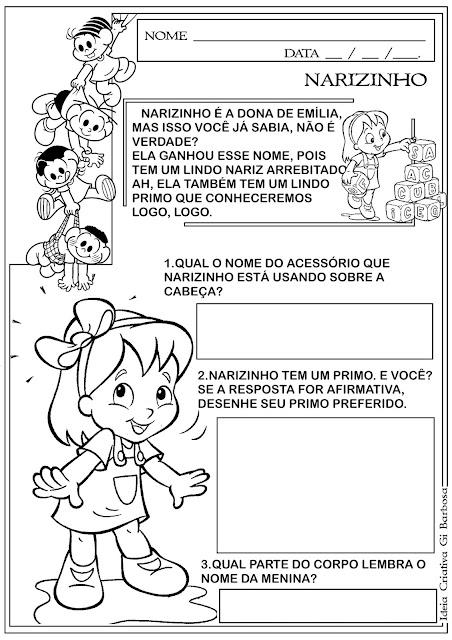 Atividade Sítio do Pica Pau Amarelo - Narizinho