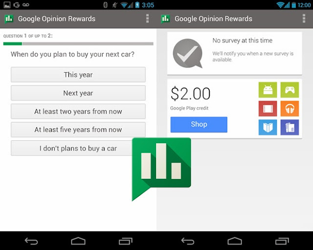 Google Opinion Rewards Android App