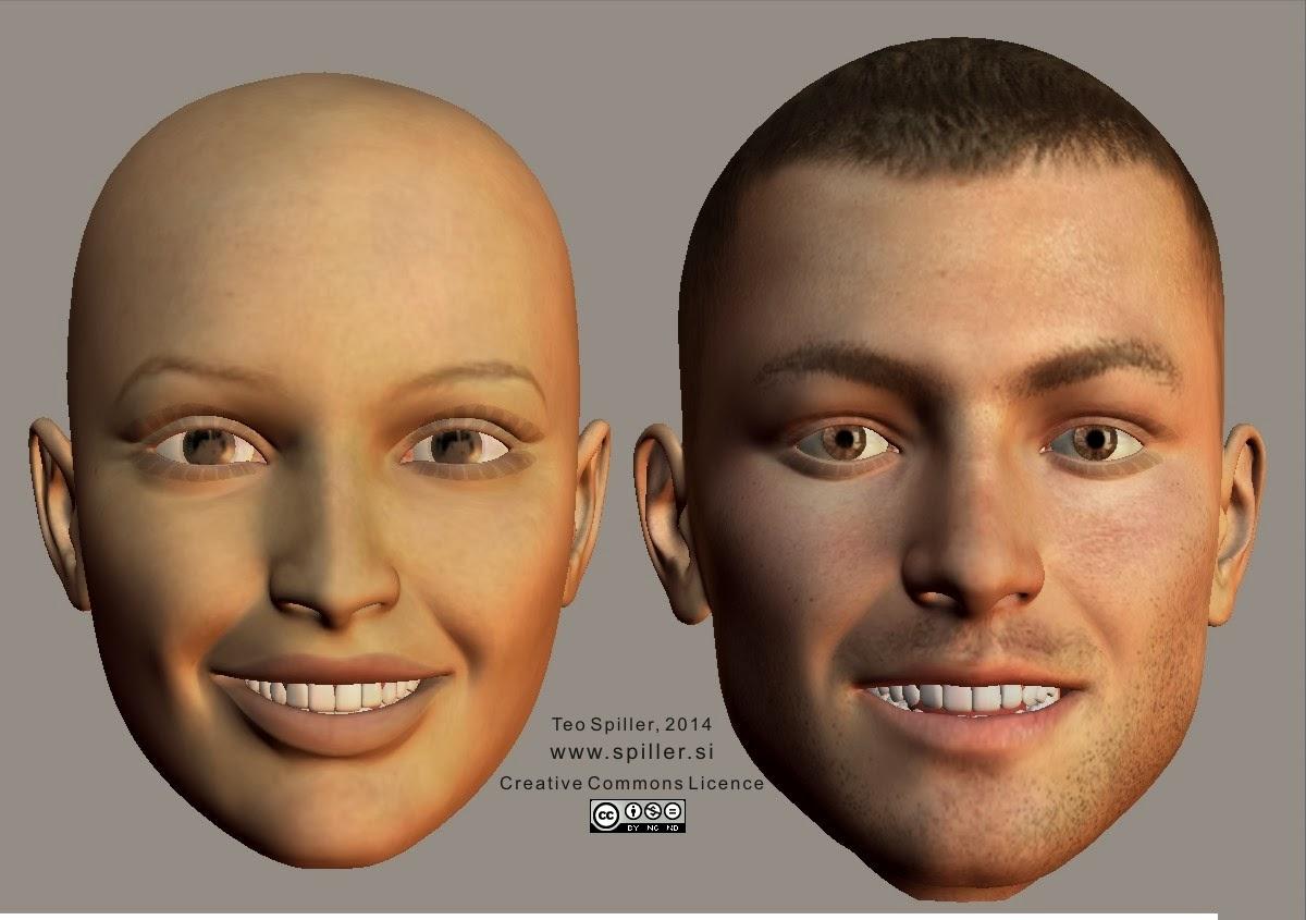 Happy face shape (enface)