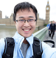 young man taking a selfie in London