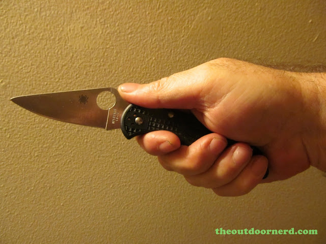 Spyderco Delica 4 FRN Pocket Knife: Fully Deployed
