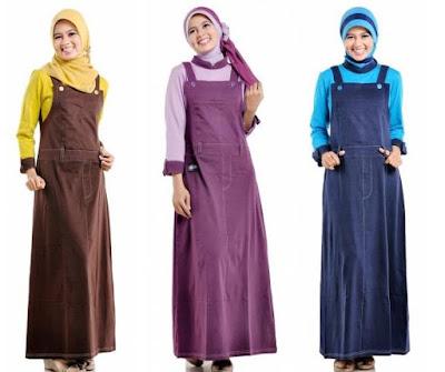 Desain Baju Overall ( Kodok ) Muslimah Terbaru 2015