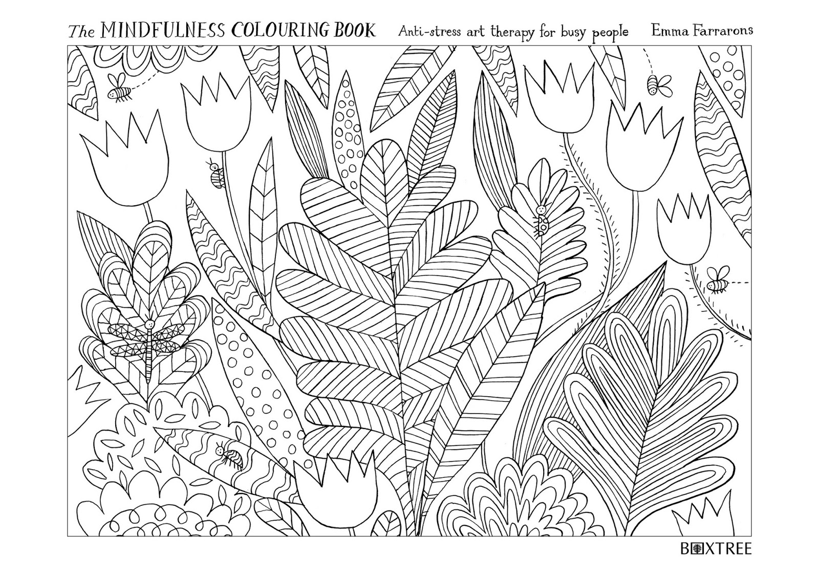 Un Petit Blog By Emma Farrarons THE MINDFULNESS COLOURING BOOK Anti Stress Art Therapy For Busy People