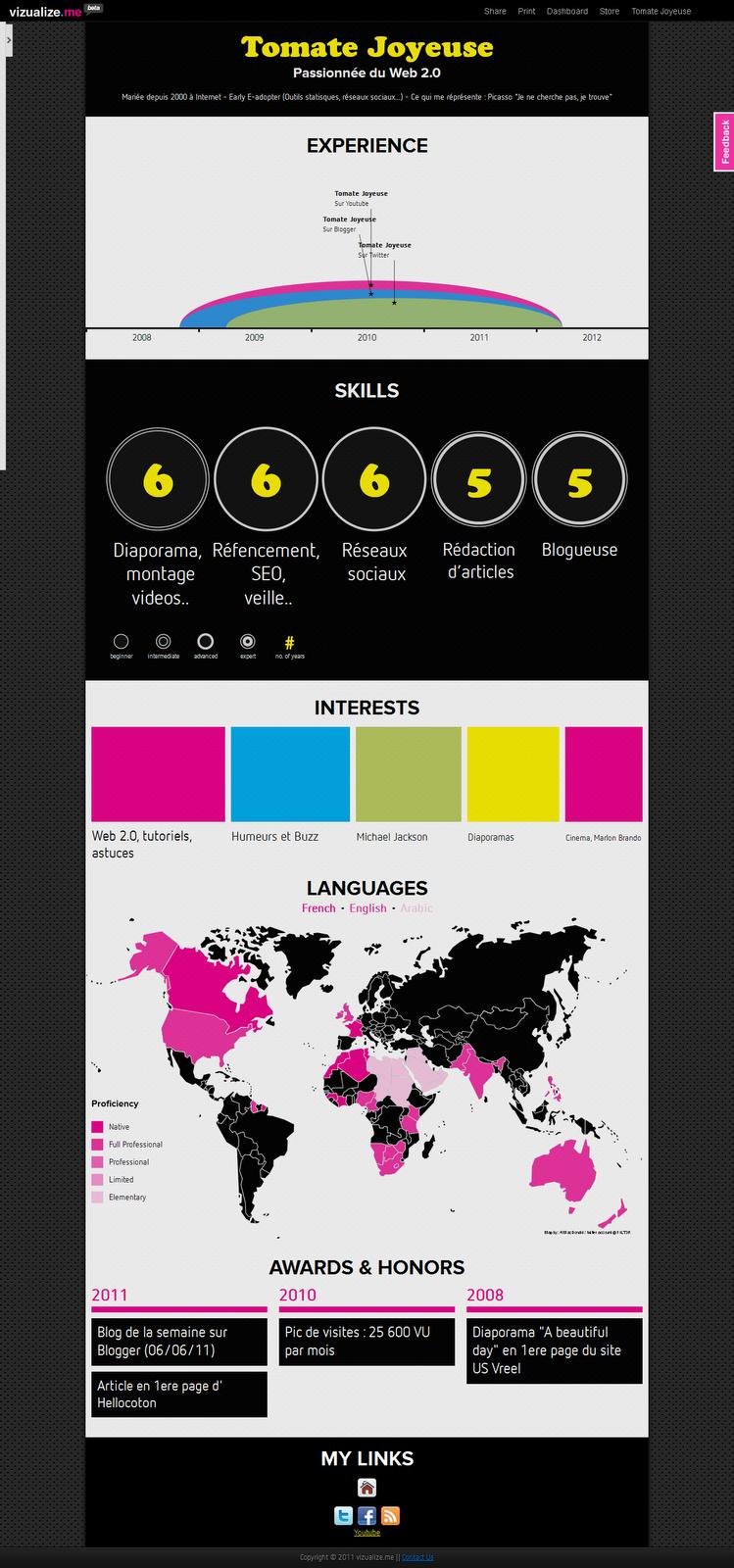 cr u00e9er une infographie interactive de votre cv  outil