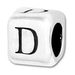 Fancy D style letter beads
