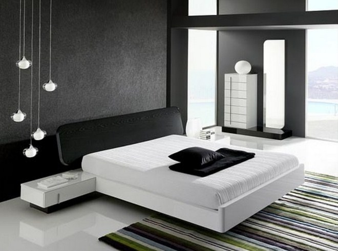 . Simple Black and White Bedroom Ideas for Modern House