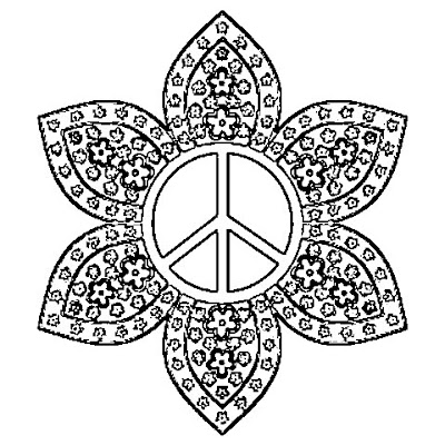 Peace day mandalas learningenglish esl for Peace sign mandala coloring pages