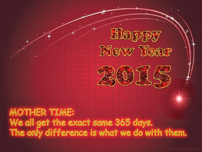 Mother Time Happy New Year 2015 Wishes Quotes