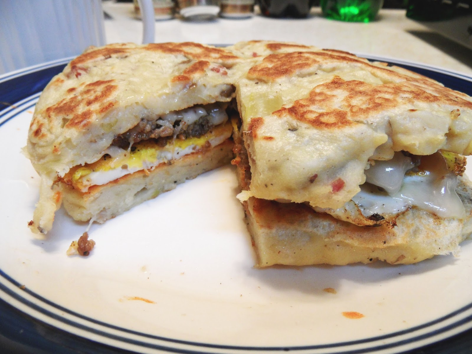 potato pancake breakfast sandwich