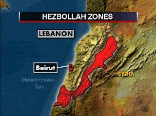 la proxima guerra zonas dominadas por hezbola en el libano frontera con siria