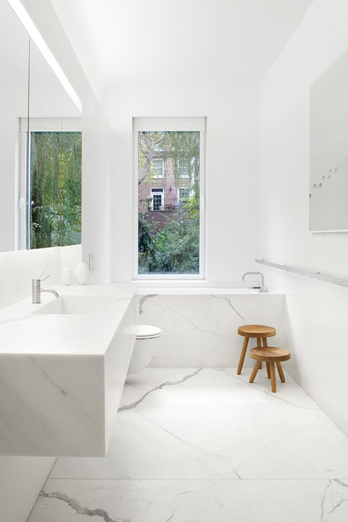 Ba os minimalistas o con tu toque personal ministry - Limpieza marmol blanco ...