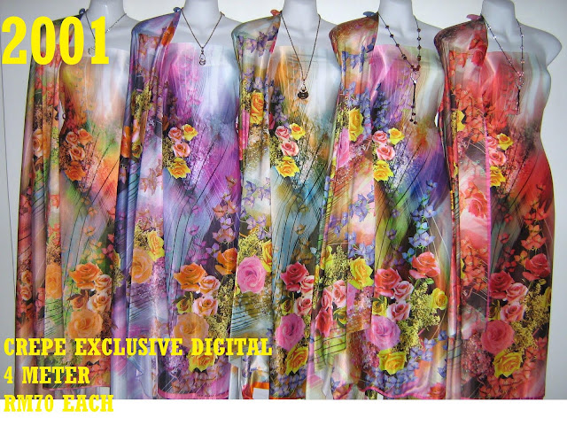 CP 2001: CREPE EXCLUSIVE DIGITAL PRINTED, 4 METER