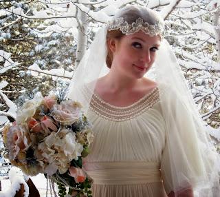 Alannah Autrey vintage bridal photograph