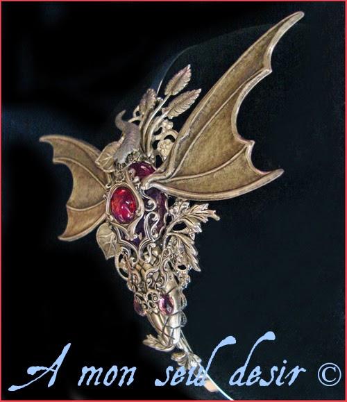 Serre-tête Médiéval Fantasy Le Souffle du Dragon Bijou Daenerys Targaryen Khaleesi Game of Thrones Jewel Headdress Headband Dragon's breath