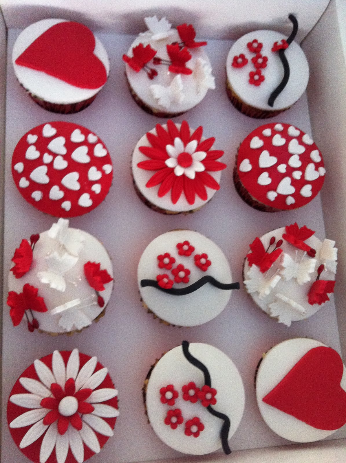 The Cupcake Stand Red and White Wedding Cupcakes