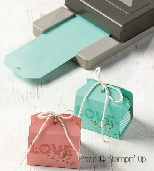 Crafting Clare shows treats made with Stampin' Up tag topper punch