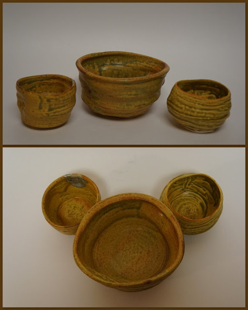 """Wabi sabi"" pottery bowls in Ash Yellow by Lily L."