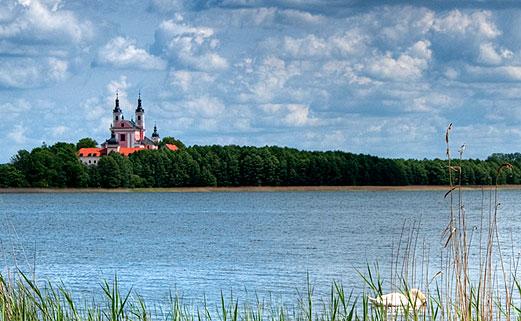 Masurian Lake land in Poland