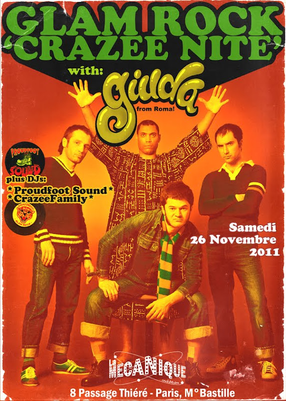 GIUDA - Crazee - number 10 2010 glam rock punk Surfin'Ki records paris gig 2011