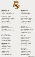 Download Jadwal Pertandingan Real Madrid 2014-2015