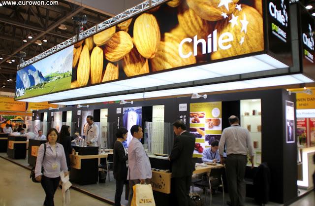 Stand de Chile en la feria Korea Food Show 2013