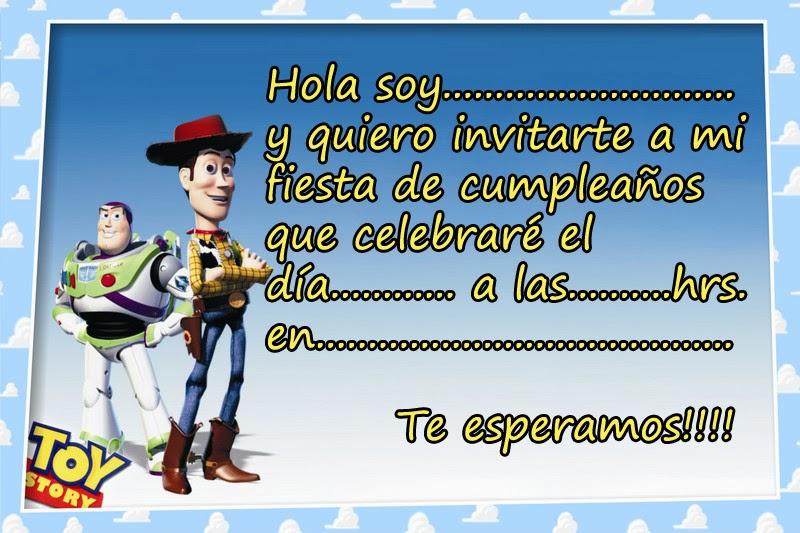 Tarjetas o Invitaciones de Cumpleaños de Toy Story ~ Marcos Gratis ...