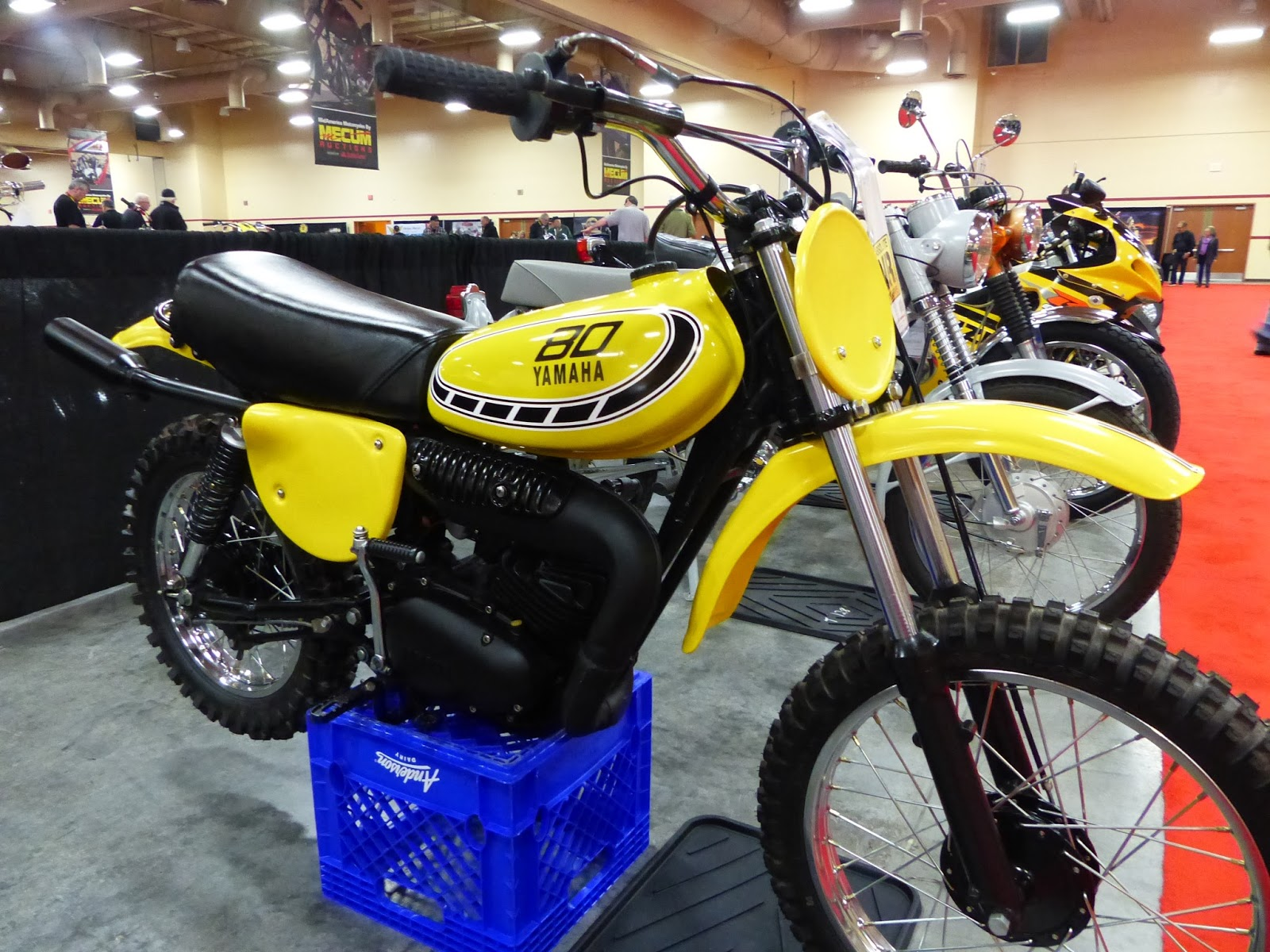 Oldmotodude 1976 yamaha yz80 sold for 3 250 at the 2016 for Yamaha moto 4 80 for sale