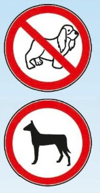 segnale divieto accesso ai cani