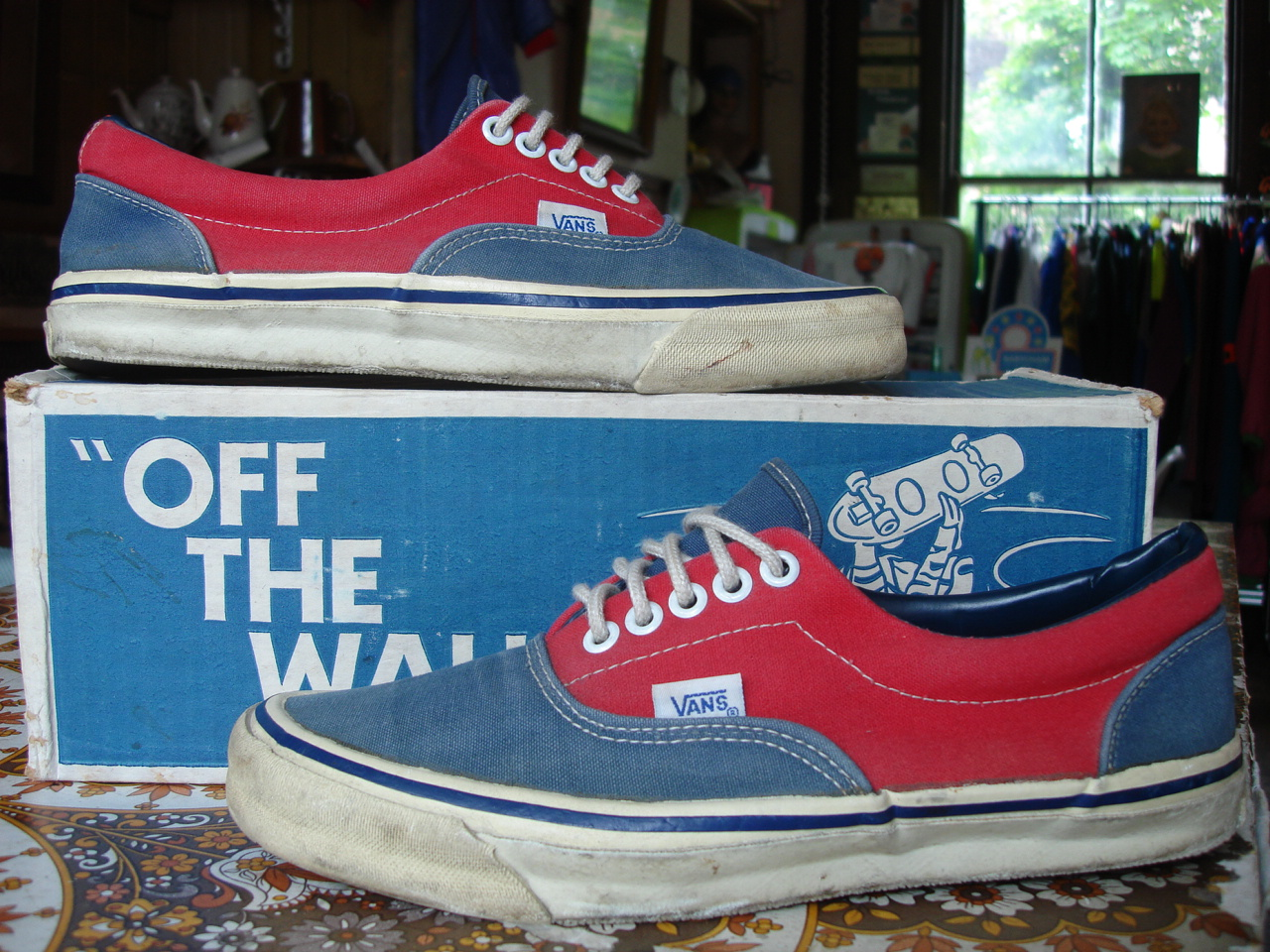 Theothersideofthepillow Vintage Vans Blue Amp Red Dogtown