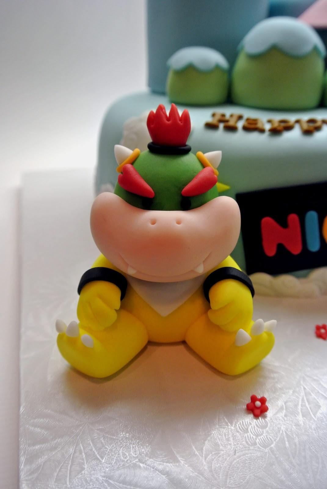 Beautiful Kitchen Mario Bowser And Yoshi Cake For
