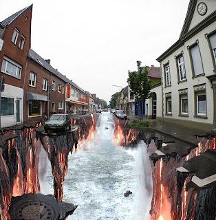 Lukisan 3D atas jalan raya
