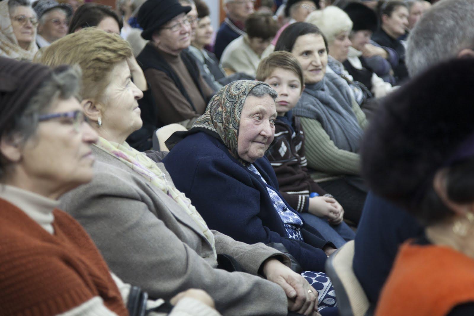 Publicul cald și ideal din Sibiu