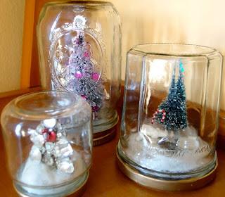 como hacer bolas de nieve de cristal