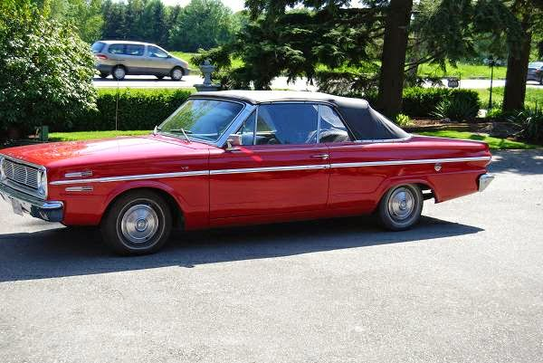 Original Classic 1966 Convertible Valiant Auto Restorationice