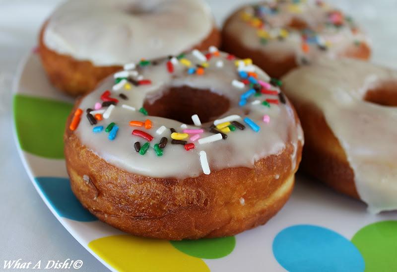 What A Dish!: Homemade Yeast Raised Doughnuts