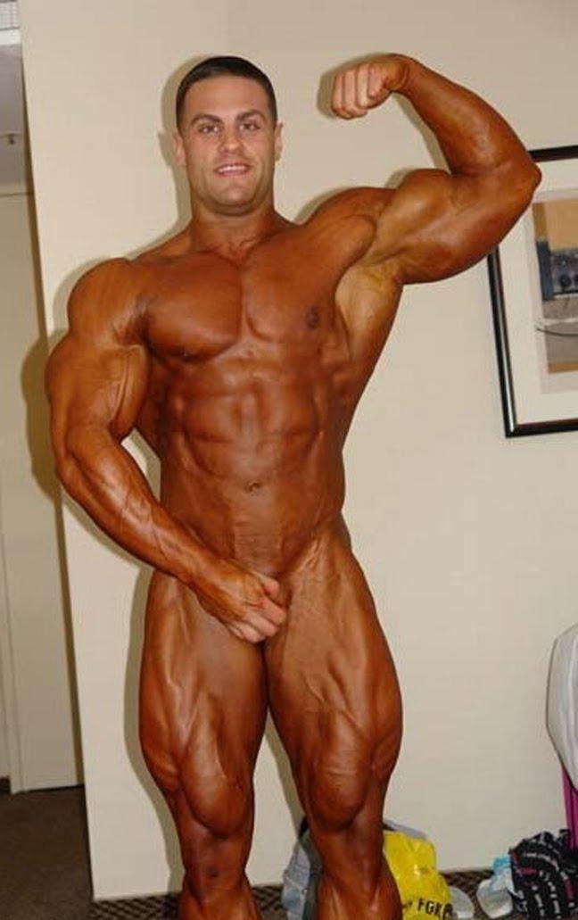 Men bodybuilders posing nude commit