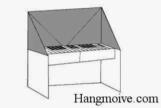 Bước 11: Dùng bút vẽ các phím đàn để hoàn thành đàn piano.