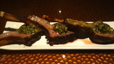 Lamb Chops with Pistachio Sauce