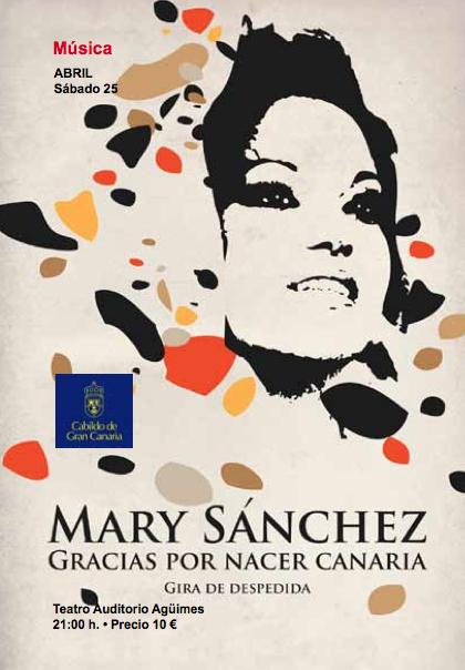 """Mary Sánchez: """"Gracias por nacer canaria"""", gira de despedida"""