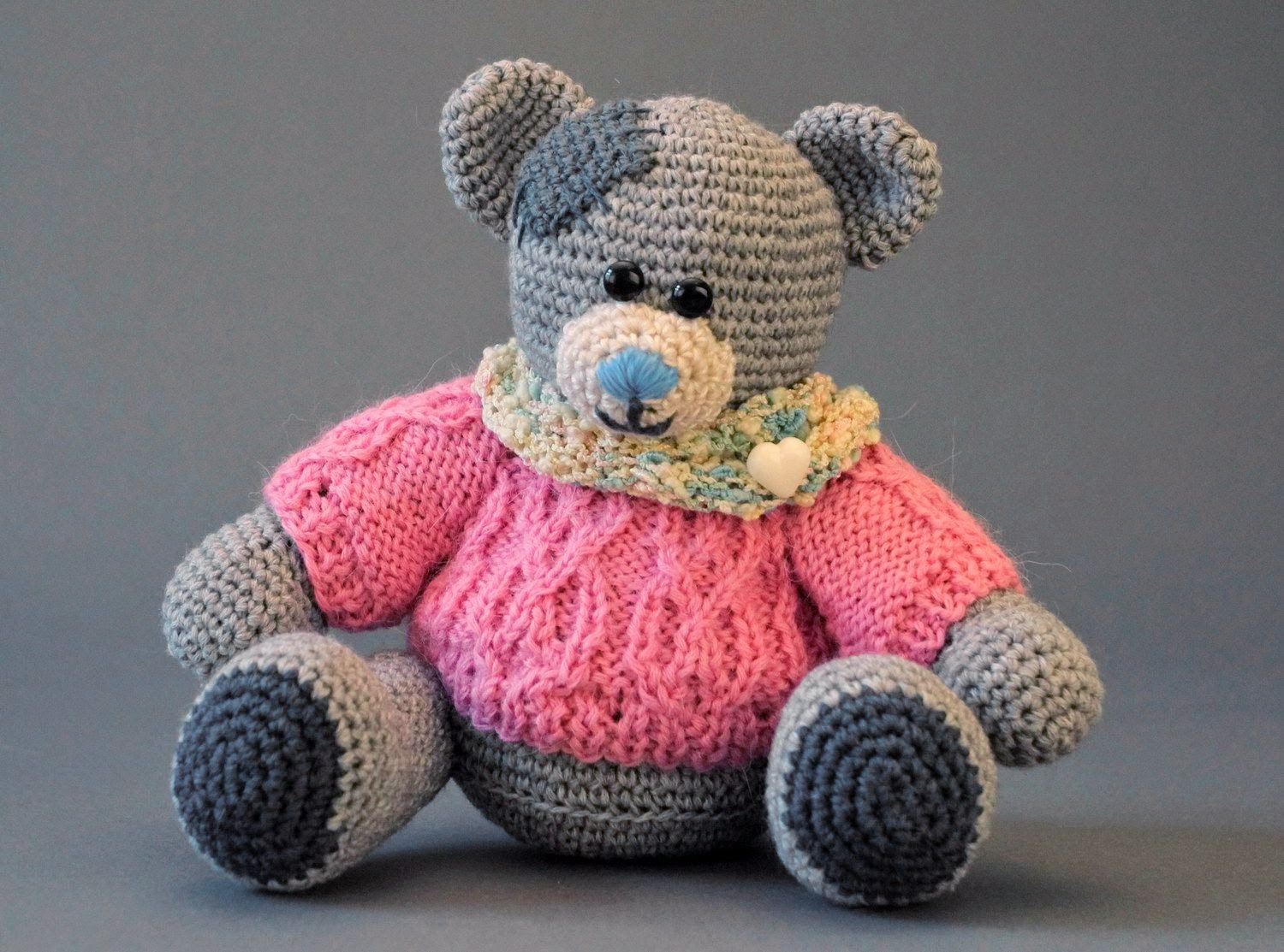 knitted toy Teddy Bear
