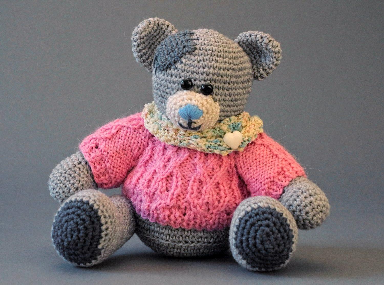 knitted toy Teddy Bear