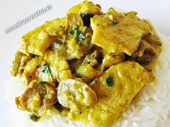 Pollo al curry...