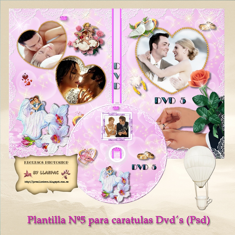 Recursos Photoshop Llanpac: Plantilla romantica especial bodas para ...