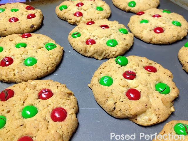 Potato Chip Cookies with M&Ms