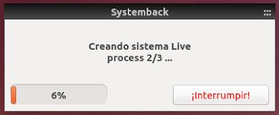 Systemback Crear sistema Live