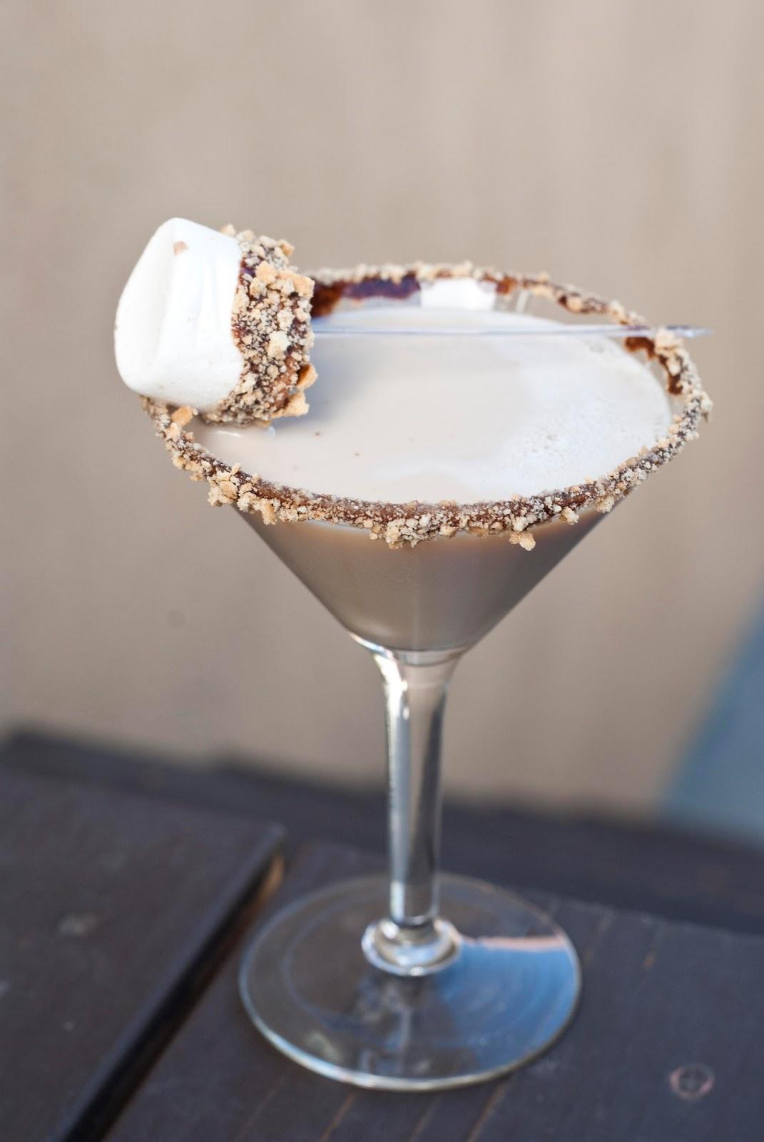 more, S'moretini, marshmallow vodka, white creme de cacao, kahlua ...