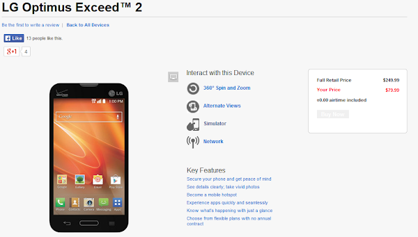 LG L70 rebranded as LG Optimus Exceed 2 for Verizon